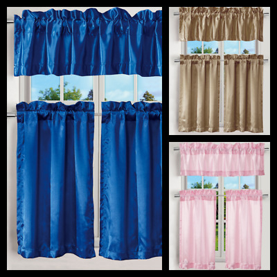 Kitchen Rod Valance 2 Pk Tier Cafe Curtains Light Filtering Intended For Light Filtering Kitchen Tiers (View 31 of 50)