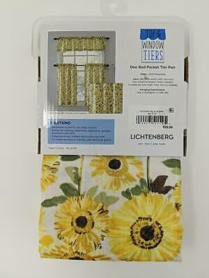 Kitchen Rod Valance 2 Pk Tier Cafe Curtains Light Filtering Regarding Light Filtering Kitchen Tiers (View 18 of 50)