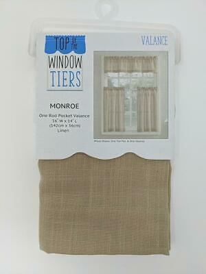 Kitchen Rod Valance 2 Pk Tier Cafe Curtains Light Filtering With Regard To Light Filtering Kitchen Tiers (#21 of 50)