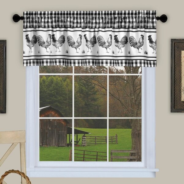 Kitchen Valances With Roosters | Wayfair With Barnyard Buffalo Check Rooster Window Valances (View 23 of 30)