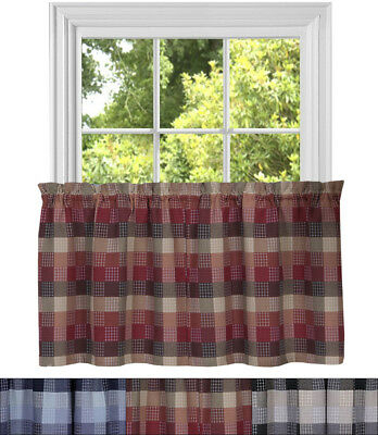 "Kitchen Window Curtain Classic Harvard Checkered 24"" Tier Throughout Cumberland Tier Pair Rod Pocket Cotton Buffalo Check Kitchen Curtains (View 23 of 30)"