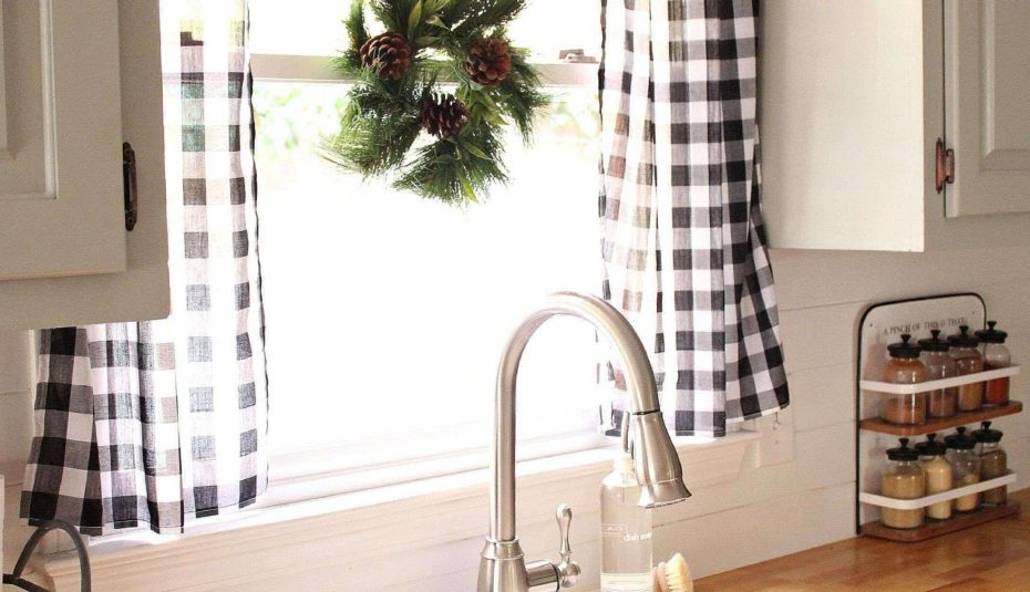 Kitchen Window Curtain Patterns Valance Ideas Curtains With Regard To Grey Window Curtain Tier And Valance Sets (View 35 of 50)