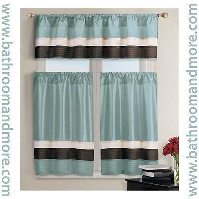 Kitchen Window Curtain Set  1 Valance, 2 Tiers  Burgundy Regarding Kitchen Burgundy/white Curtain Sets (#34 of 50)