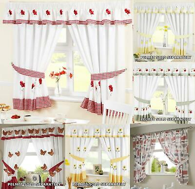 Kitchen Window Curtains Pair Voile Or Matching Pelmets With Oakwood Linen Style Decorative Window Curtain Tier Sets (#14 of 30)