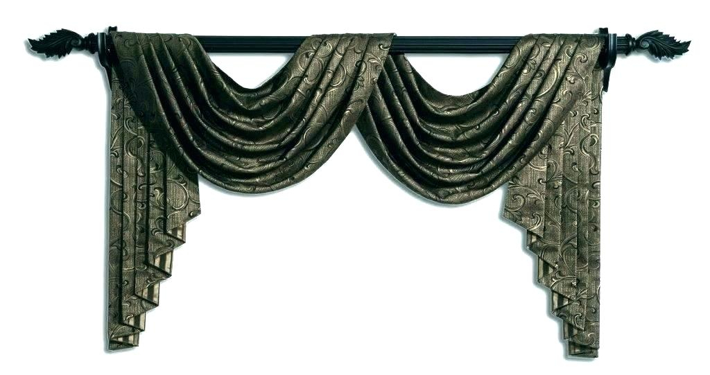 Kitchen Window Valances And Swags Swag For Windows Scenic Intended For Luxurious Kitchen Curtains Tiers, Shade Or Valances (#18 of 50)