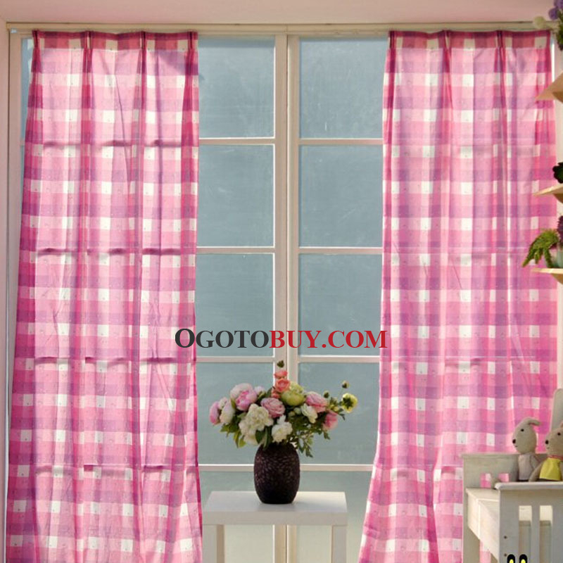 Klassische Plaid Baumwolle Leinen Mischgewebe Günstige In Cotton Blend Classic Checkered Decorative Window Curtains (View 18 of 30)