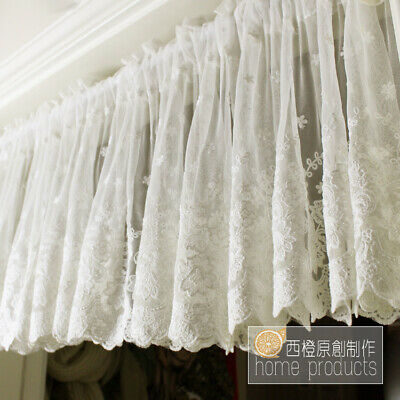 Knit Lace Bird Motif Kitchen Window Curtain Tiers, Swags Or Intended For White Knit Lace Bird Motif Window Curtain Tiers (View 22 of 50)