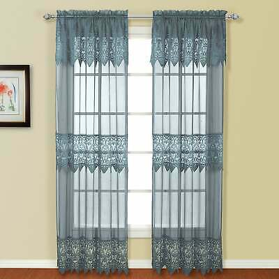 Lace Curtain Luxury Sheers Window Treatments Home Valance Within Luxury Collection Kitchen Tiers (#27 of 50)