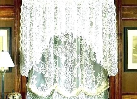 Lace Kitchen Curtains Ebay – Illustrasjon Inside Ivory Knit Lace Bird Motif Window Curtain (View 26 of 50)