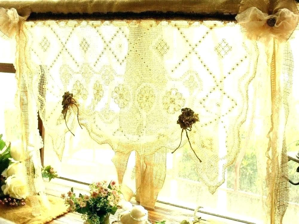 Inspiration about Lace Kitchen Curtains Sheer Amazon – Illustrasjon With Regard To White Knit Lace Bird Motif Window Curtain Tiers (#17 of 50)
