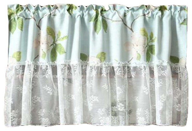 Inspiration about Lace Short Kitchen Curtain Small Window Half Curtain Cafe Curtain Tier  Curtain Throughout Cotton Blend Grey Kitchen Curtain Tiers (#13 of 47)