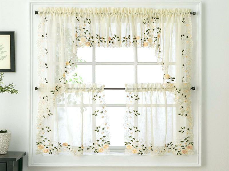 Inspiration about Lace Tier Curtains – V9Oj With Regard To Elegant White Priscilla Lace Kitchen Curtain Pieces (#29 of 30)