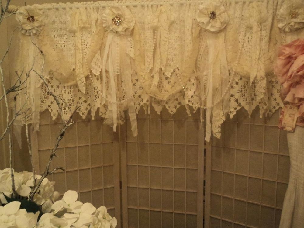 Inspiration about Lace Valance Curtains – Brickandwillow.co Intended For Ivory Knit Lace Bird Motif Window Curtain (#28 of 50)
