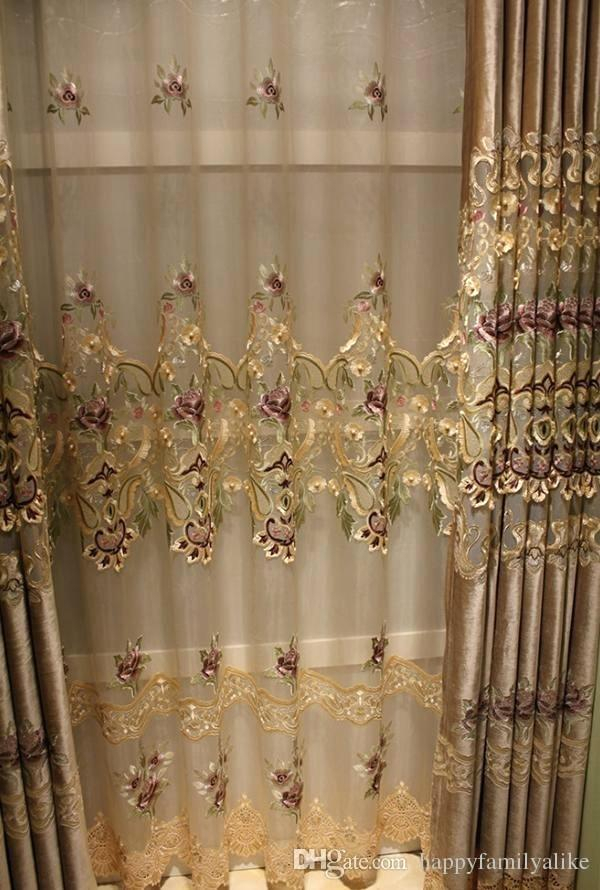 Inspiration about Lace Valance Curtains – Brickandwillow.co With Ivory Knit Lace Bird Motif Window Curtain (#50 of 50)