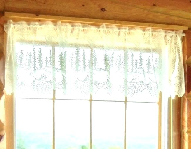 Inspiration about Lace Valance Curtains – Brickandwillow.co With Regard To White Knit Lace Bird Motif Window Curtain Tiers (#48 of 50)