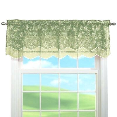 Inspiration about Lace Valances And Swags – Masfashion.co With White Knit Lace Bird Motif Window Curtain Tiers (#35 of 50)