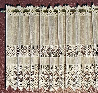 Lace Valances And Tiers From Austria – Ashley | Lace With Regard To Country Style Curtain Parts With White Daisy Lace Accent (View 41 of 50)