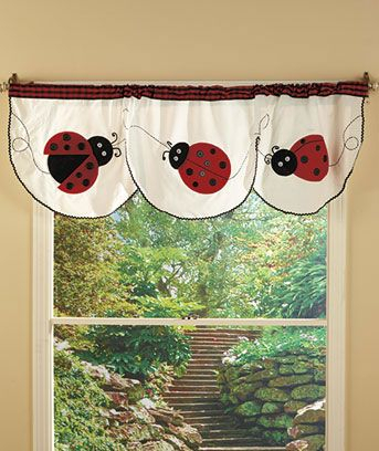 Ladybug Kitchen Collection | Ladybug, Decor, Girl Room Regarding Embroidered Ladybugs Window Curtain Pieces (View 25 of 50)