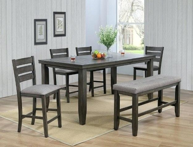 Inspiration about Langton Reclaimed Wood Dining Tables Intended For Well Liked Gray Wood Dining Table – Litology.co (#29 of 30)