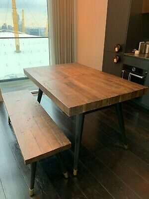 Langton Reclaimed Wood Dining Tables With Regard To Most Popular Next Hartford Extending Rustic Dining Table, Storage Bench (#19 of 30)