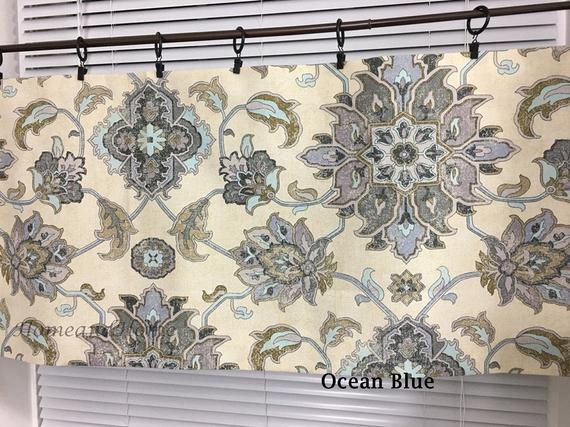 Large Medallion Valance. Cafe Curtains. Designer Valance Medallion Valance.  Kitchen Valance. Large Medallion Curtain Valance (#26 of 48)