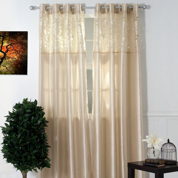 Laser Cut Sheer Curtains | Wayfair Pertaining To Grace Cinnabar 5 Piece Curtain Tier And Swag Sets (View 23 of 30)