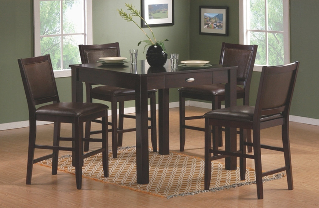 Inspiration about Latest Dark Wood Square Counter Height Bistro Table – Contemporary With Carson Counter Height Tables (#12 of 20)