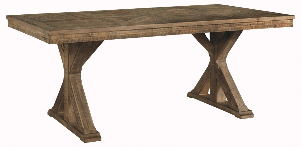 Inspiration about Latest Griffin Reclaimed Wood Dining Tables Intended For Grindleburg – White/light Brown – Rectangular Dining Room Table (#19 of 30)