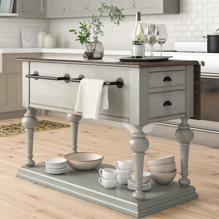Inspiration about Latest Sandbach Kitchen Island With Wood Top Pertaining To Elworth Kitchen Island (#12 of 20)