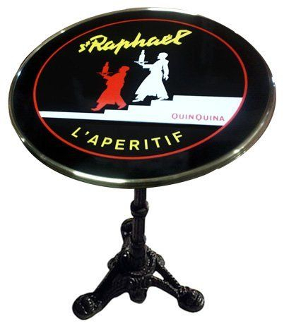 Latest St Raphael French Enamel Tabletop Bistro Tableglac Seat Pertaining To Rae Round Marble Bistro Tables (#8 of 20)
