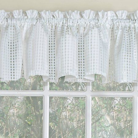 Inspiration about Laurel Leaf Sheer Voile Embroidered Kitchen Curtains 24 Inch Inside Floral Embroidered Sheer Kitchen Curtain Tiers, Swags And Valances (#9 of 50)