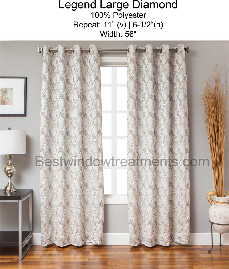 Legend Large Pintuck Diamond Curtain | Www (#22 of 43)