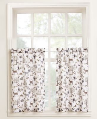 "Lichtenberg Forest Friends 56"" X 24"" Pair Of Tier Curtains For Hopscotch 24 Inch Tier Pairs In Neutral (View 12 of 30)"