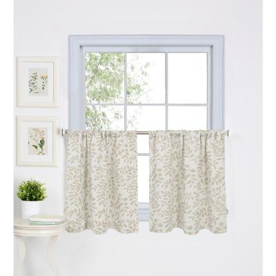 Lichtenberg Semi Opaque White Montego Grommet Kitchen Intended For Solid Microfiber 3 Piece Kitchen Curtain Valance And Tiers Sets (#27 of 50)