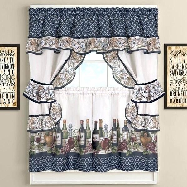 Inspiration about Licious Grape Kitchen Curtains Vine Purple Wine And Valances With Regard To Delicious Apples Kitchen Curtain Tier And Valance Sets (#15 of 30)