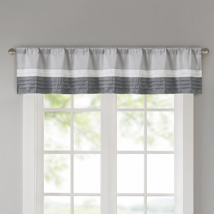 "Liesel Pintuck 50"" Window Valance Regarding Pintuck Kitchen Window Tiers (#23 of 43)"