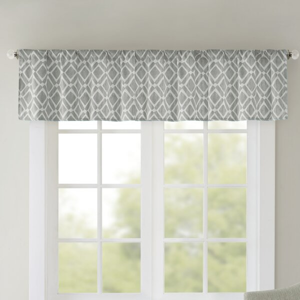 Light Filtering Valance | Wayfair Within Silver Vertical Ruffled Waterfall Valance And Curtain Tiers (View 35 of 50)