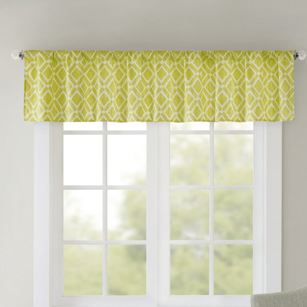 Light Green Valance | Wayfair Regarding Luxury Light Filtering Straight Curtain Valances (View 3 of 47)