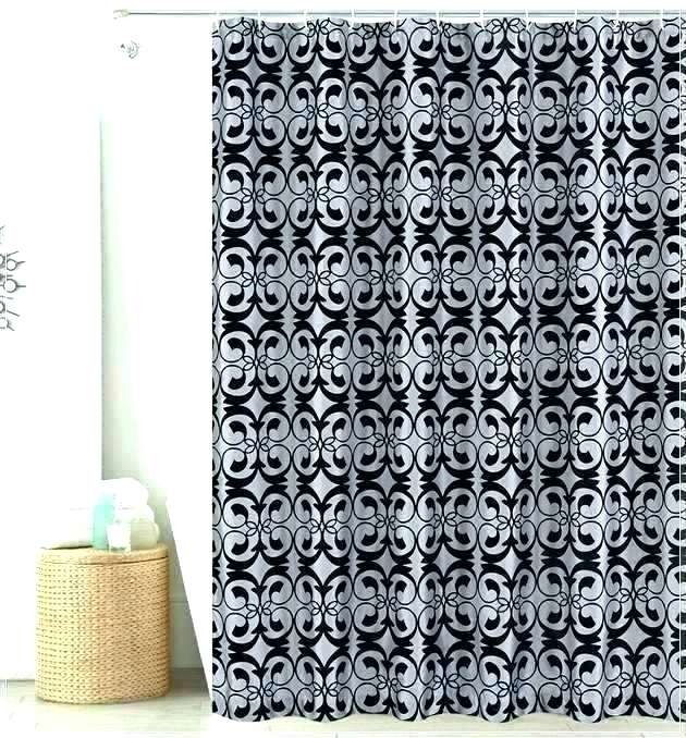 Likable Black White Silver Shower Curtain Bathrooms Dubai With Regard To Glasgow Curtain Tier Sets (View 26 of 30)