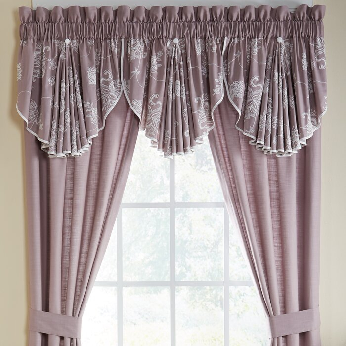 "Liliana Circle 42"" Window Valance Intended For Circle Curtain Valances (View 23 of 30)"