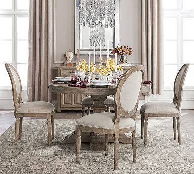 Linden Fixed Pedestal Table, Grey At Pottery Barn In 2019 With Popular Linden Round Pedestal Dining Tables (View 2 of 30)