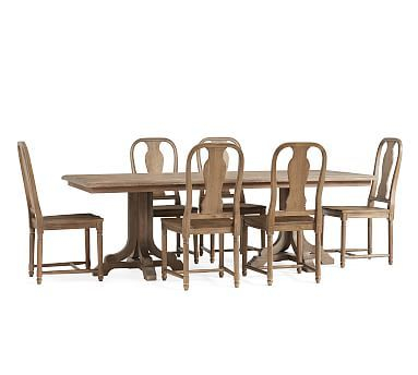 Inspiration about Linden Table & Mabry Chair Dining Set, Belgian Gray With Widely Used Belgian Gray Linden Extending Dining Tables (#5 of 20)