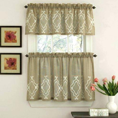 Linen Kitchen Curtains – Reginemeitan Within Linen Stripe Rod Pocket Sheer Kitchen Tier Sets (#27 of 46)