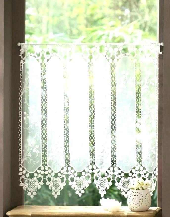 Linen Kitchen Curtains Sheer Blue Curtain Gray Valance Throughout Floral Lace Rod Pocket Kitchen Curtain Valance And Tiers Sets (View 32 of 50)