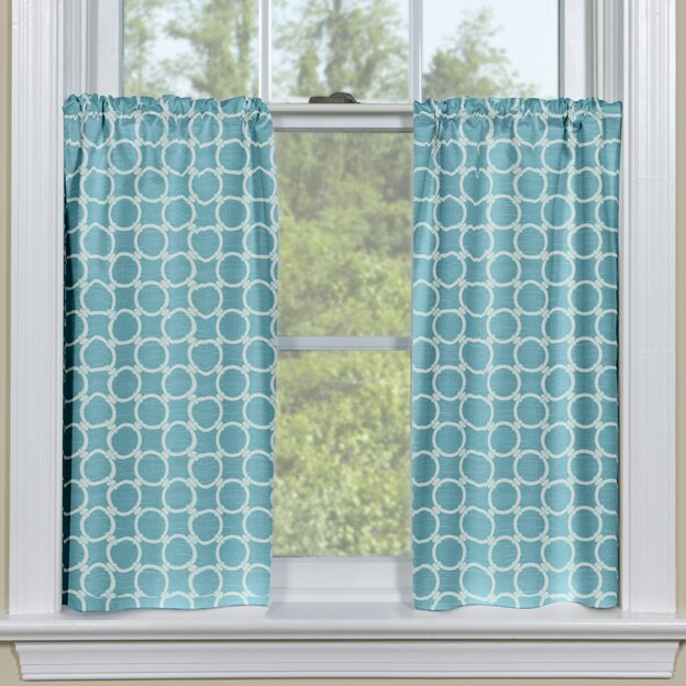 Links Tier Cafe Curtain For Dexter 24 Inch Tier Pairs In Green (View 25 of 30)