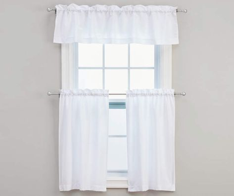 Living Colors Marla Ivory Kitchen Tier & Valance 3 Piece Set For Scroll Leaf 3 Piece Curtain Tier And Valance Sets (View 4 of 50)