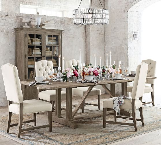 "Livingston Extending Dining Table, Gray Wash, 76"" – 106"" L With Regard To Famous Brown Wash Livingston Extending Dining Tables (#9 of 20)"
