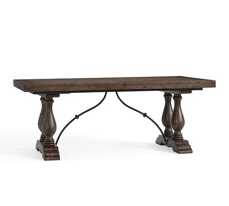 Inspiration about Lorraine Medium Extending Dining Table, Rustic Brown At Intended For Most Current Rustic Brown Lorraine Extending Dining Tables (#7 of 20)