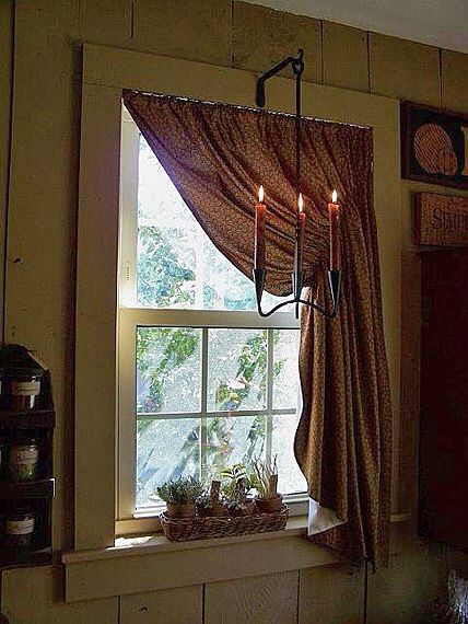 Inspiration about Love This Window! | Primitive Bedroom, Primitive Curtains, Home In Primitive Kitchen Curtains (#23 of 30)