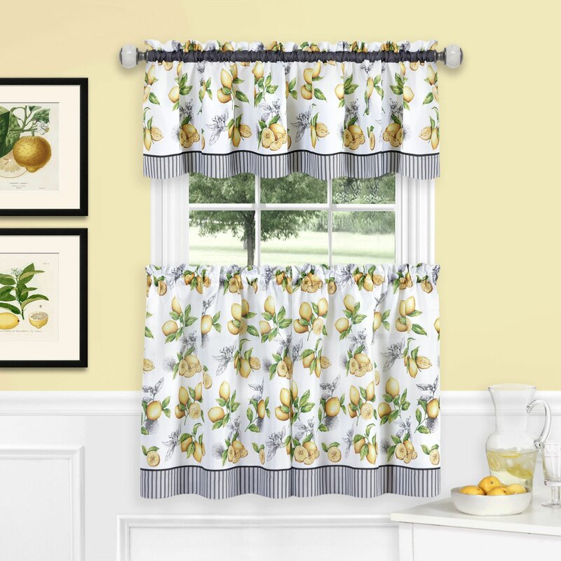 Inspiration about Lovely Lemon Kitchen Decor ~ Fun Kitchen Decorations Pertaining To Embroidered Chef Black 5 Piece Kitchen Curtain Sets (#40 of 42)